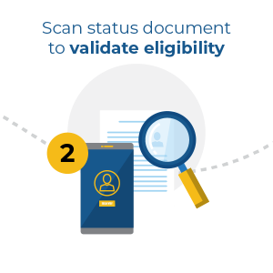 scan status document to validate eligibility